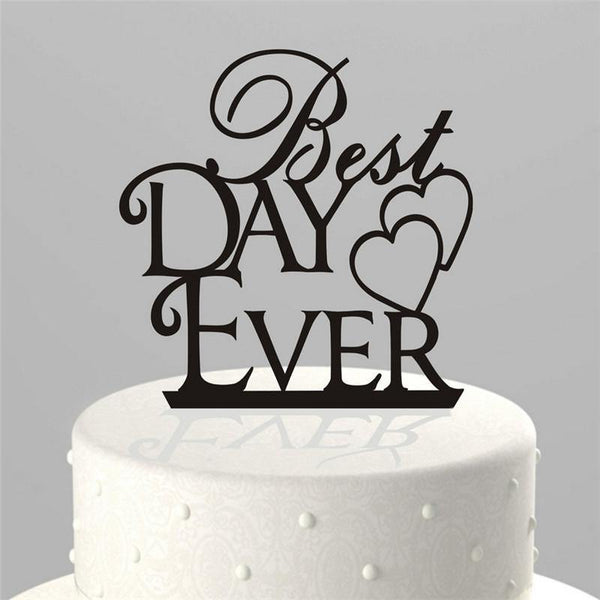 Wedding Cake Topper (Best Day Ever /Double Heart to Heart /Creative)