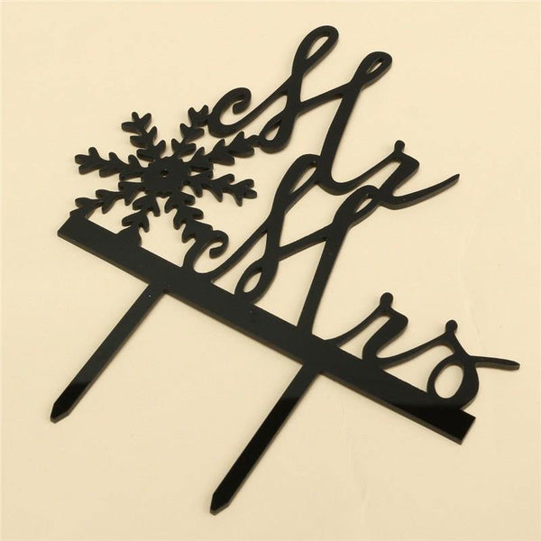 Wedding Cake Topper /Cake Decoration (Christmas Holiday Xmas Snowflake)