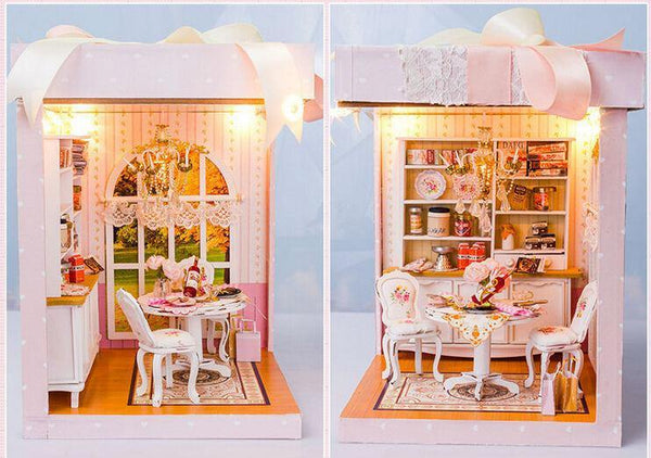 Wooden Doll House DIY Miniature