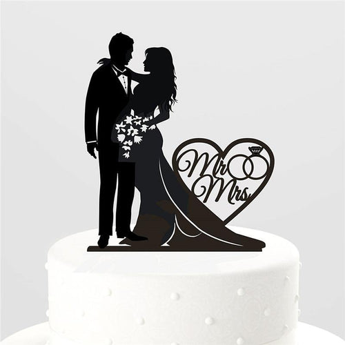 Wedding Cake Topper (Mr Mrs /Bride Groom Couple /Bouquet Flowers) - CHARMERRY