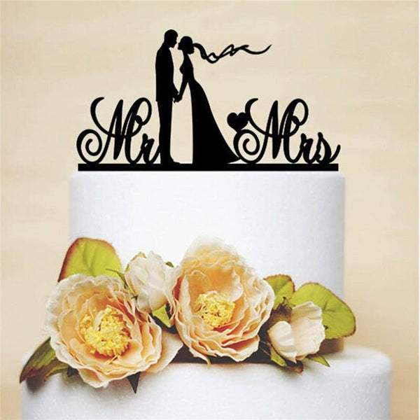 Wedding Cake Topper (Mr & Mrs /Bride Kiss Groom & Holding Hands)