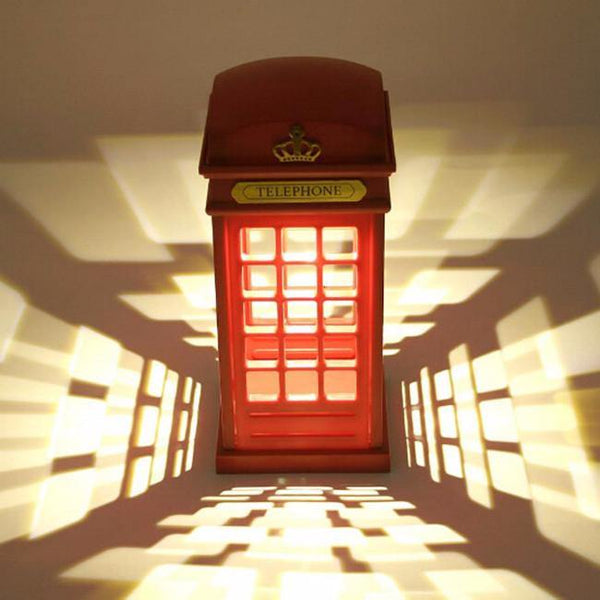London Telephone Booth LED Night Light Lamp with Touch Sensor (USB Rechargeable) - Charmerry