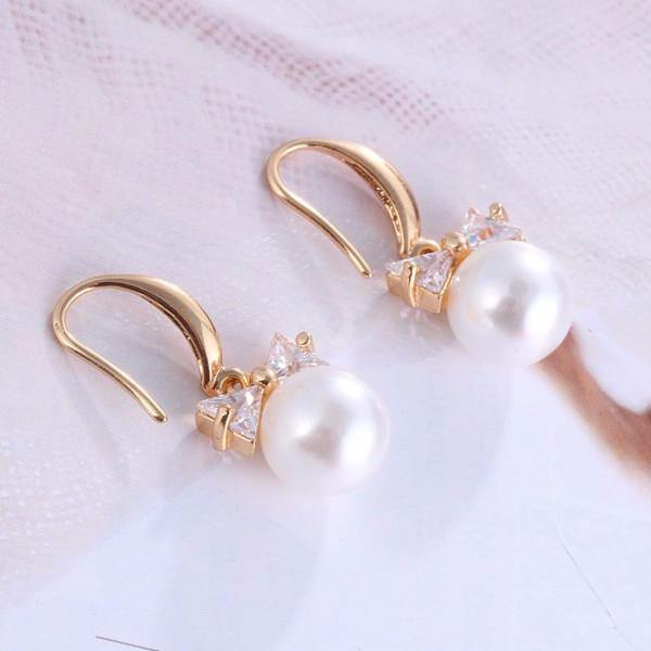 Fashion Jewelry Faux Pearl Earring - Charmerry