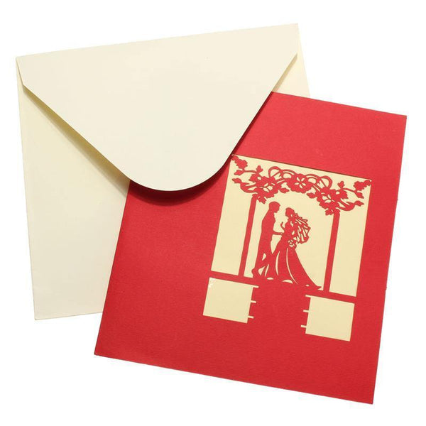 Greeding Cards Groom and Bride Wedding Card/ Greeting Card/ Invitation Card - Charmerry