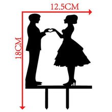 Load image into Gallery viewer, Wedding Cake Topper (Hand Heart Symbol /Love Sign /Creative Couple) - CHARMERRY