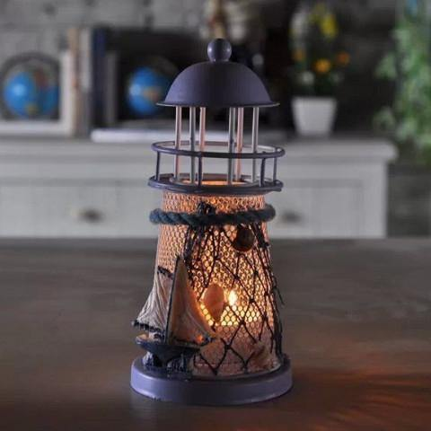 Lighthouse Candle Holder for Home and Garden Decoration