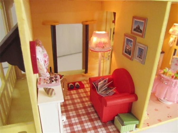 Wooden Doll House DIY Miniature Building