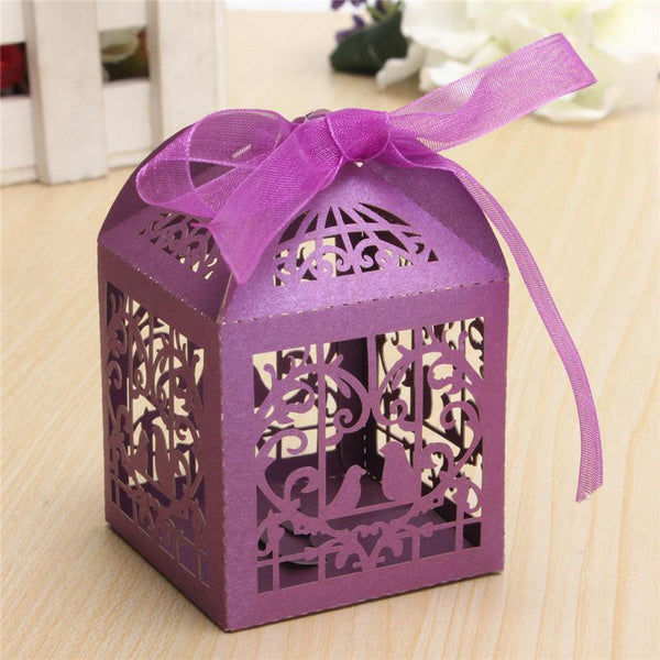 Party Supplies Elegant Gift Box/ Birdcage Sweets Box (Set of 10) - Charmerry