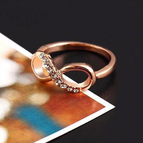Fashion Jewelry Infinity Zircon Plated Ring - Charmerry