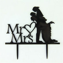 Load image into Gallery viewer, Cake Topper Romantic Cake Topper (Mr Love Mrs /Groom Lifting Bride /Gazing Lovingly) - Charmerry