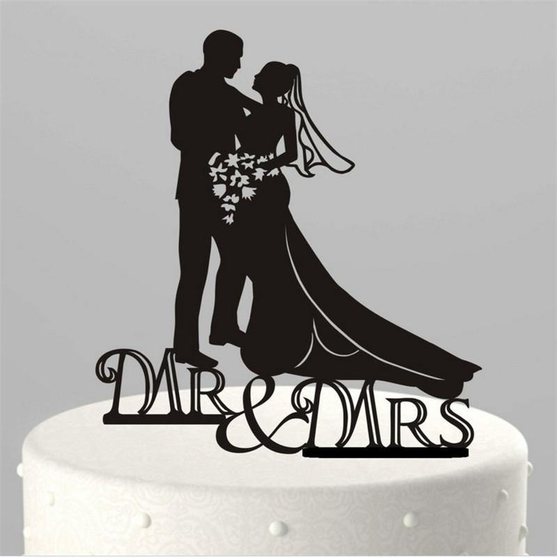 Wedding Cake Topper (Mr & Mrs /Bride Groom Couple /Bouquet Flowers) - CHARMERRY