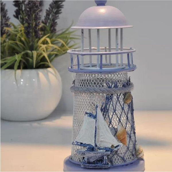 Candle and Holder Lighthouse Candle Holder for Home and Garden Decoration - Charmerry