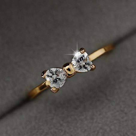 Fashion Jewelry Fashion Crystal Rings (Bow-Knot) - Charmerry