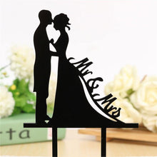 Load image into Gallery viewer, Wedding Cake Topper /Anniversary Cake Decoration (Romantic Kiss /Bride Groom /Mr Mrs) - CHARMERRY