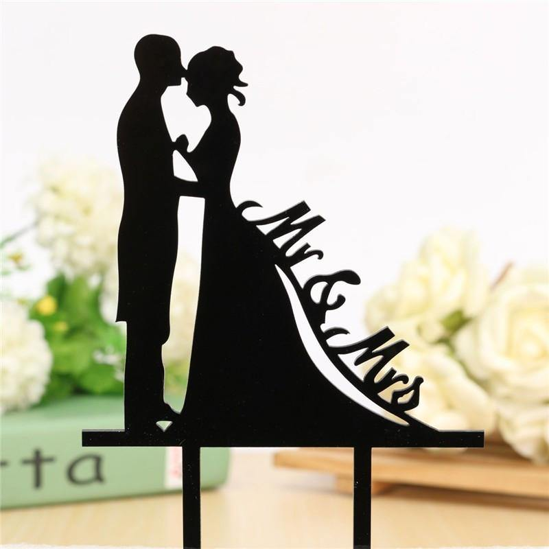 Wedding Cake Topper /Anniversary Cake Decoration (Romantic Kiss /Bride Groom /Mr Mrs) - CHARMERRY