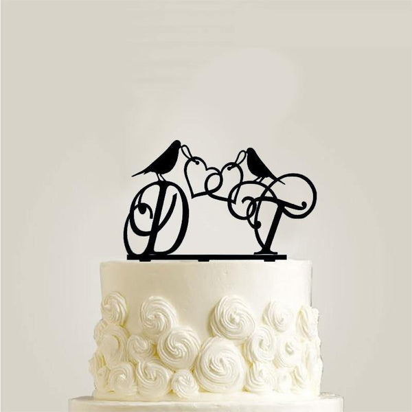 Cake Topper Decoration (Bird /Double Heart to Heart /Romantic Wedding)