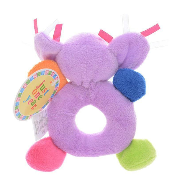 "Elephant Plush Toy -Learning Rattle Toy /Infant Developmental Training [6"" /15cm]"