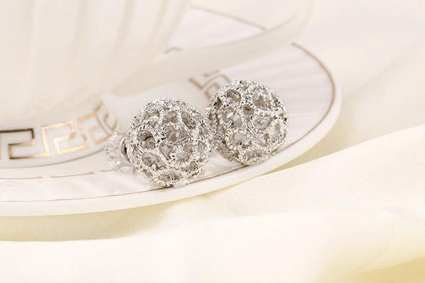 Luxury Flower Ball Double Sided Stud
