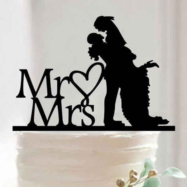 Cake Topper Romantic Cake Topper (Mr Love Mrs /Groom Lifting Bride /Gazing Lovingly) - Charmerry