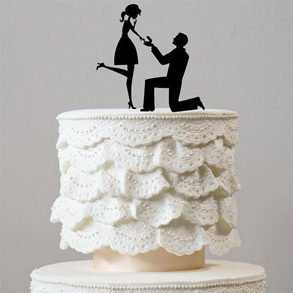 Proposing Cake Topper (Wedding /Engagement /Surprise Marriage Proposal) - CHARMERRY