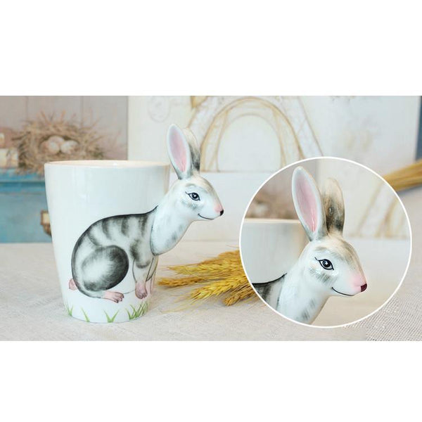 Rabbit Coffee Mug -Unique Bunny Tea Cup (Special Gifts, Creative &Novelty)