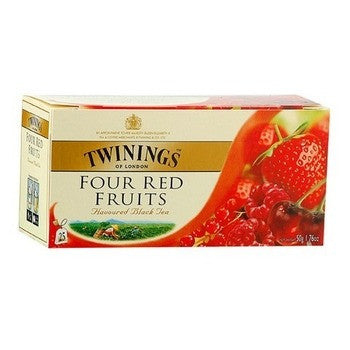 Tea Twinings Four Red Fruits Tea -Berry Cherry Currant Four Red Fruits Tea 12PK - Charmerry