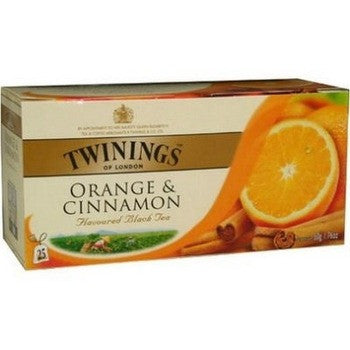 Tea Orange Black Tea -Twinings Orange & Cinnamon Black Tea Bags 6PK - Charmerry