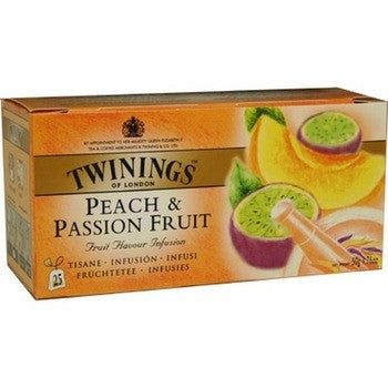 Tea Peach Black Tea /Fruit Black Tea -Twinings Passionfruit Peach Tea Bags 6PK - Charmerry
