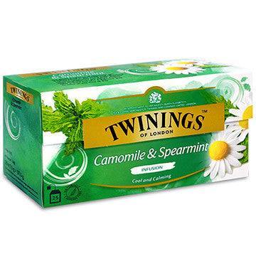 Tea Twinings Mint Tea -Camomile Spearmint Herbal Tea /Twinings Mint Tea Bag 4PK - Charmerry