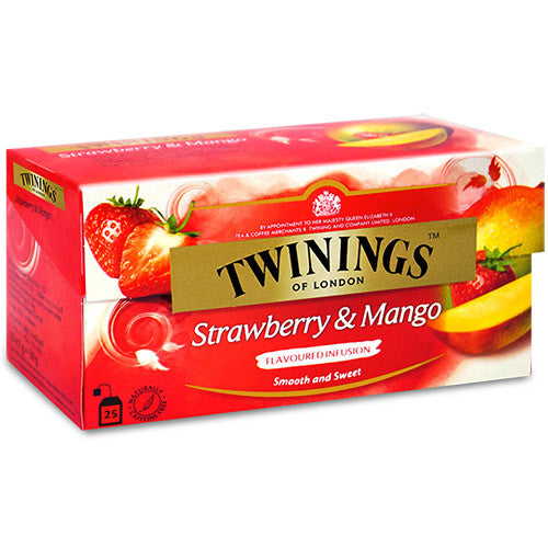 Tea Mango Tea /Twinings Fruit Black Tea -Twinings Strawberry Mango Tea Bag 2PK - Charmerry