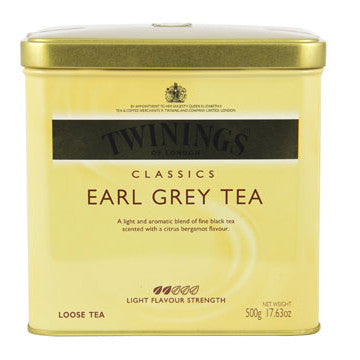 Tea Earl Grey Twinings -Twinings Black Tea /Earl Grey Loose Tea Tin 12PK - Charmerry