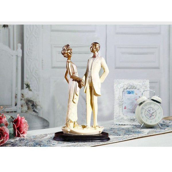 Wedding Gift -Groom Bride Figurine /Cake Topper Figure /Engagement Present