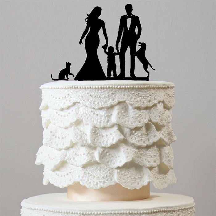 Wedding Cake Toppers (Sweet Family /Son Little Boy /Dog Cat Pet Puppy)
