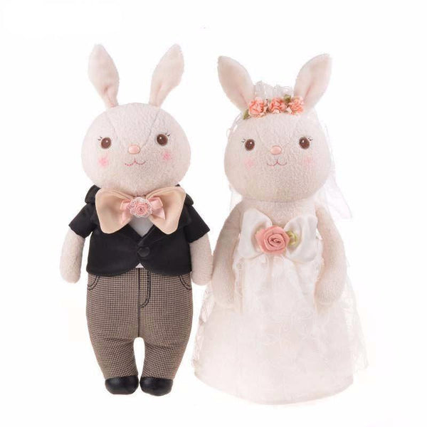 "Wedding Stuffed Toy Gift (Plush Figure /Soft Toy /Groom Bride Doll) [15"" /38cm /Rabbit /Classical]"