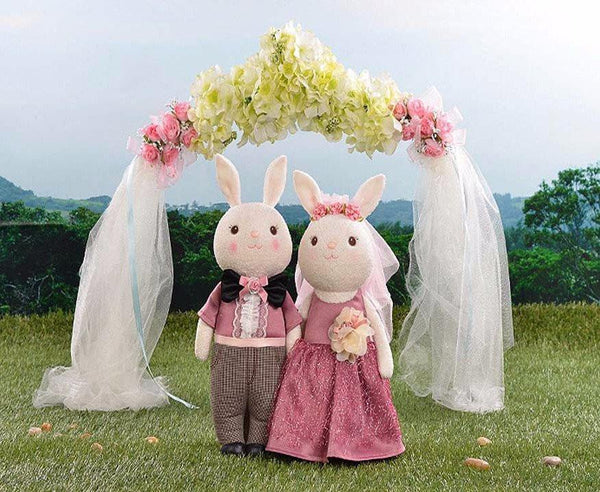 "Wedding Stuffed Toy Gift (Plush Figure /Soft Toy /Groom Bride Doll) [15"" /38cm /Rabbit /Rustic]"