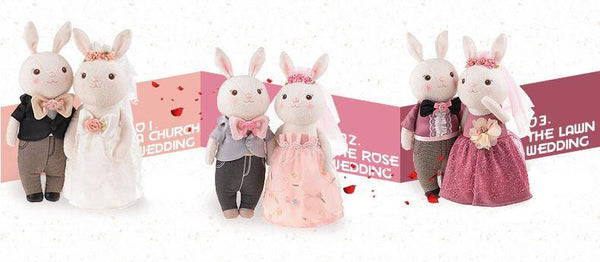 "Wedding Stuffed Toy Gift (Plush Figure /Soft Toy /Groom Bride Doll) [15"" /38cm /Rabbit /Casual]"
