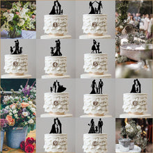 Load image into Gallery viewer, wedding cake toppers family son daughter boy girl baby kids children simple elegant chic style classy themes decor favors decoration charmerry a0000