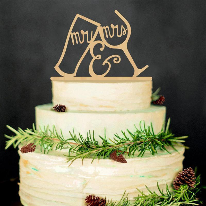 Wood Wedding Cake Topper (Rustic /Vintage /Country Themes) [Mr Mrs /