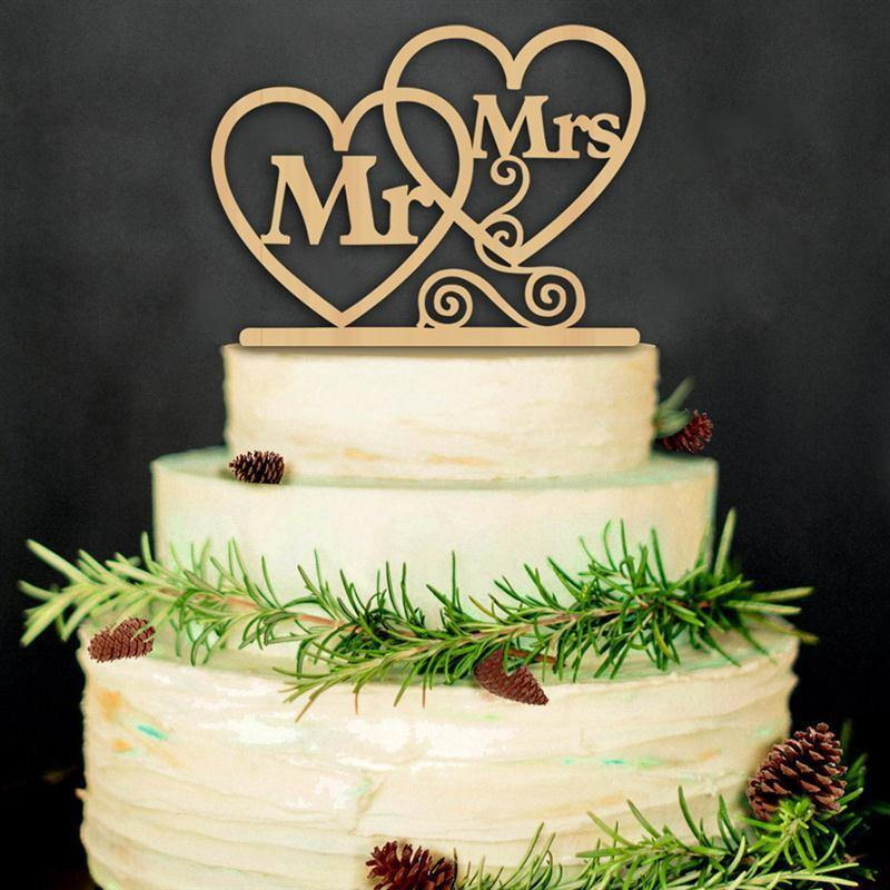Wood Wedding Cake Topper Rustic Vintage Country Themes