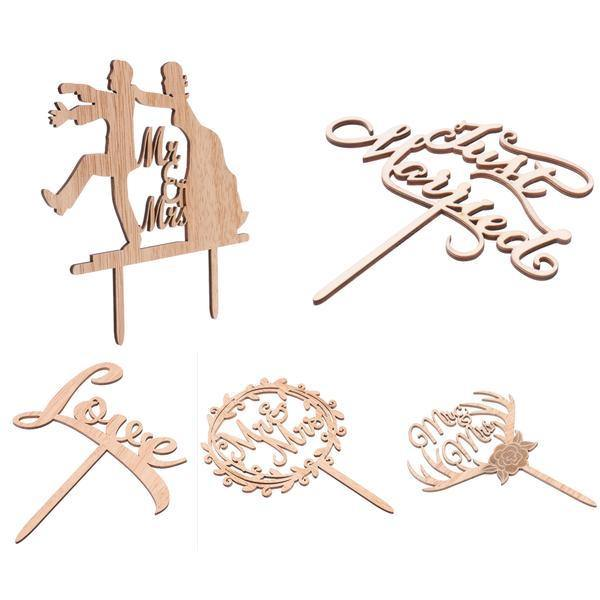 ... Wood Wedding Cake Toppers (Simple U0026 Elegant /Rustic /Vintage) [Love]
