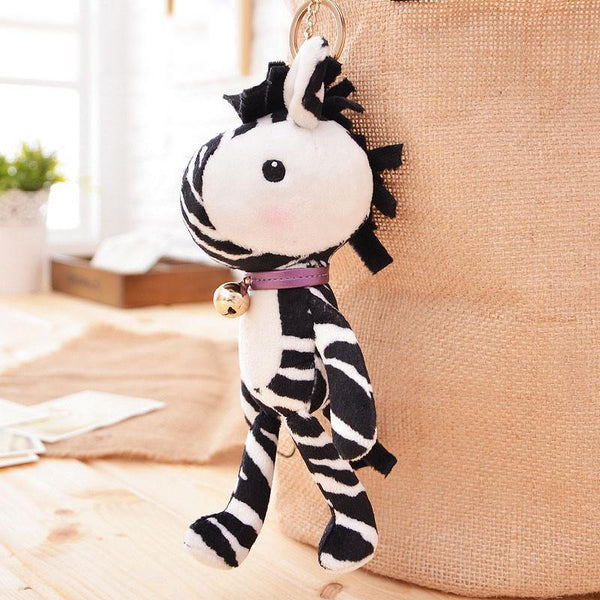 "Zebra Stuffed Animal /Plush Toy Gift (Rag Doll Keychain /Key Ring) [7.8"" /20cm]"