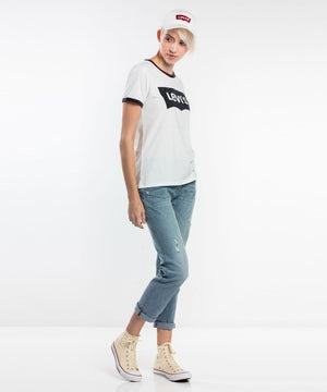 Levi's - Perfect Ringer Logo Tee - White/Black