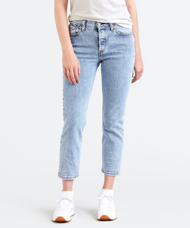 Levi's - 501 Original Cropped Jeans - Stone Throw