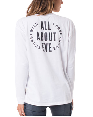 All About Eve - Defying Long Sleeve Tee - White
