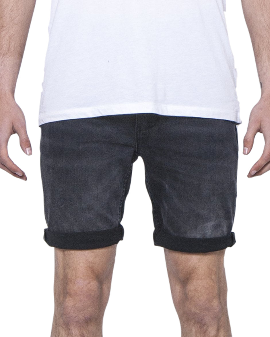 ZIGGY Denim - Drainer Short - Black Smoke Trash