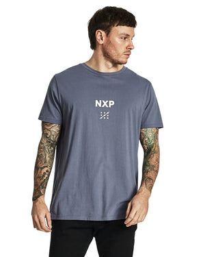 Nena And Pasadena - Boston Scoop Back Tee - Dusty Blue