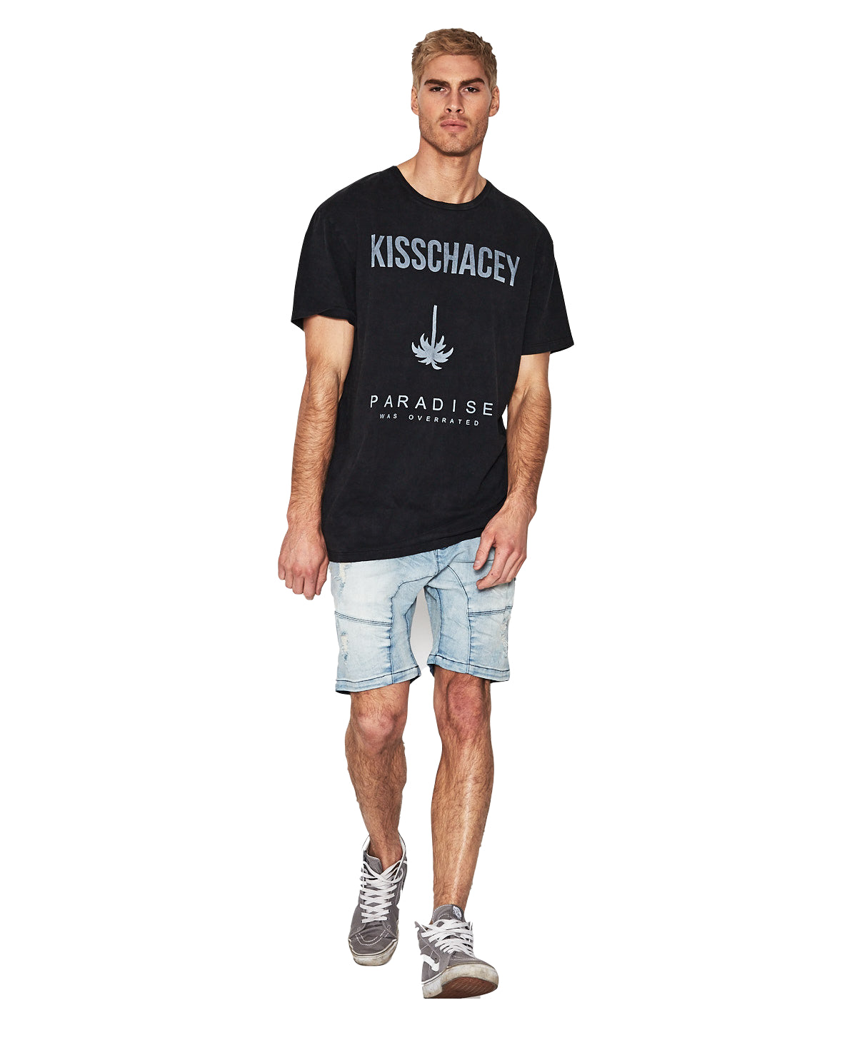 Ascension Relaxed Fit Tee - Acid Black