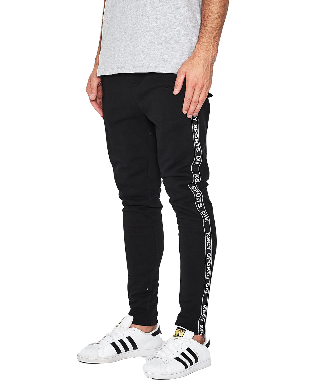 Kiss Chacey - Back Court Elasticated Trackpant - Jet Black
