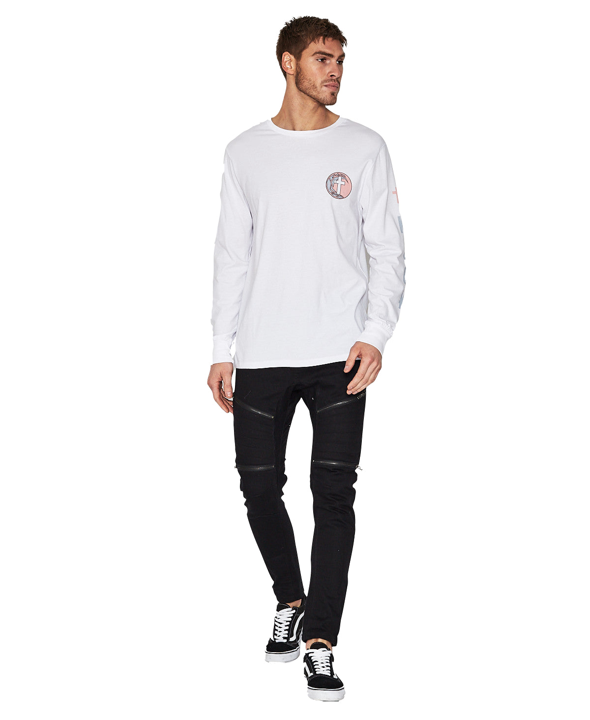 Desert Sun Long Sleeve Tee - White