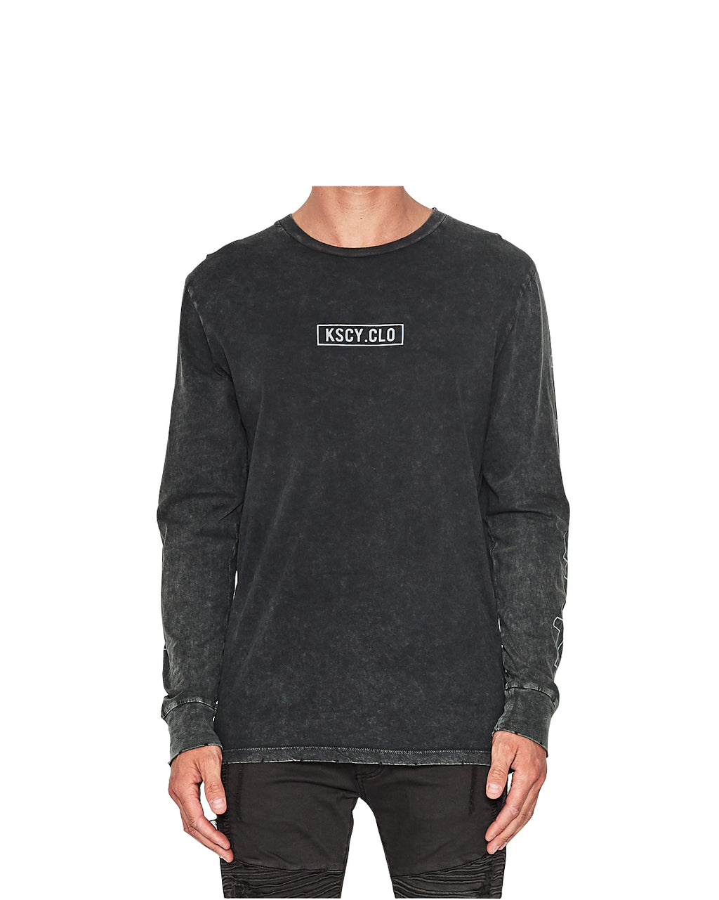 Kiss Chacey - Surviver Long Sleeve Tee - Metal Black